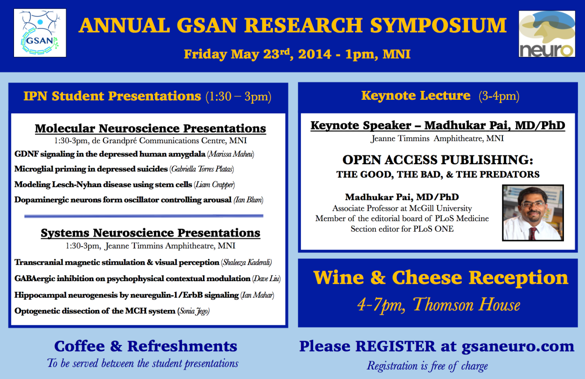 GSAN Research Symposium 2014 - Poster